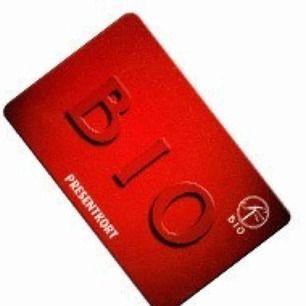 Bio-presentkort på 200! Köparn betalar 10kr extra med frakt.