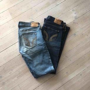 Två par supersnygga jeans från Hollister. 100 kr styck + 59 kr frakt. Skriv för fler bilder, storlekar mm 😌