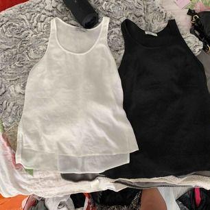 Två exakt likadana linnen i jätte skönt tunt material, 20kr st den vita är i st 36 och den svarta i st 34