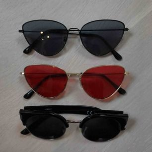 Solglasögon knappt använda, 20kr/st. första svarta och röda är SÅLDA