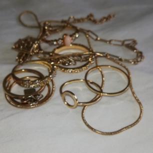 Sju stycken snyggsnygga ringar med olika design! 5 spänn styck, pris kan diskuteras vid köp av flera! :))