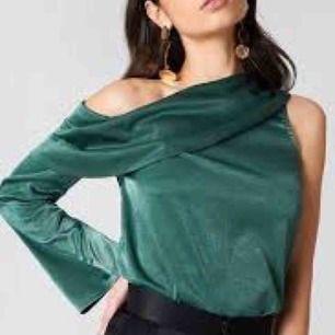 Oanvänd one shoulder top från Hannalicious x nakd, strl s!