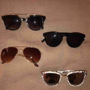 4 par solglasögon, 40kr/st💗 kan få billigare om du köper flera!🥰 hämtas i Stockholm eller fraktas💕