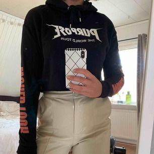 Croppad Justin Bieber Purpose hoodie. Frakt tillkommer