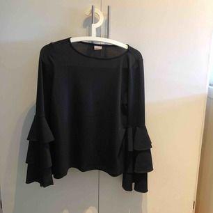 Svart blus med volangärmar från Ginatricot Priset är inklusive frakt