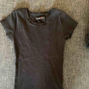 Svart ribbad tröja, smal fit. Säljer pågrund av för liten. Använd ett fåtal gånger
