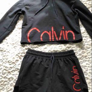 tröjan är såld❌  Superfint set från Calvin Klein. Tröjan är sparsamt använd och shortsen är oanvända. 150kr + frakt för båda delarna och 85kr + frakt för en del. Skriv för fler bilder🥰