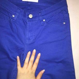 Klarblå jeans från Gemma jeans. Storlek 26/XS. Använda en gång. Först till kvarn!