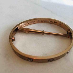 Cartier armband Love - replika Roseguld  Storlek -S