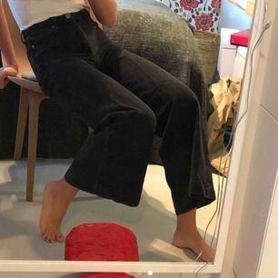 Jättefins jeans från River Island i storlek 6. Köpta här på plick med har inte blivit använda. Nypris var 600kr. Bilderna är lånade av tjejen jag köpte byxorna av så fråga bara om ni vill ha fler bilder :) pris: 200kr + 79kr frakt💗