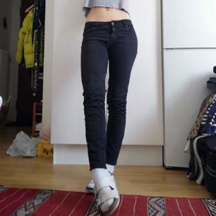 Svarta stuprörsjeans från Zara i stl 36. Perfekta basic jeans som passar till allt. Jag på bilden är 169 cm. Frakt 59 kr.