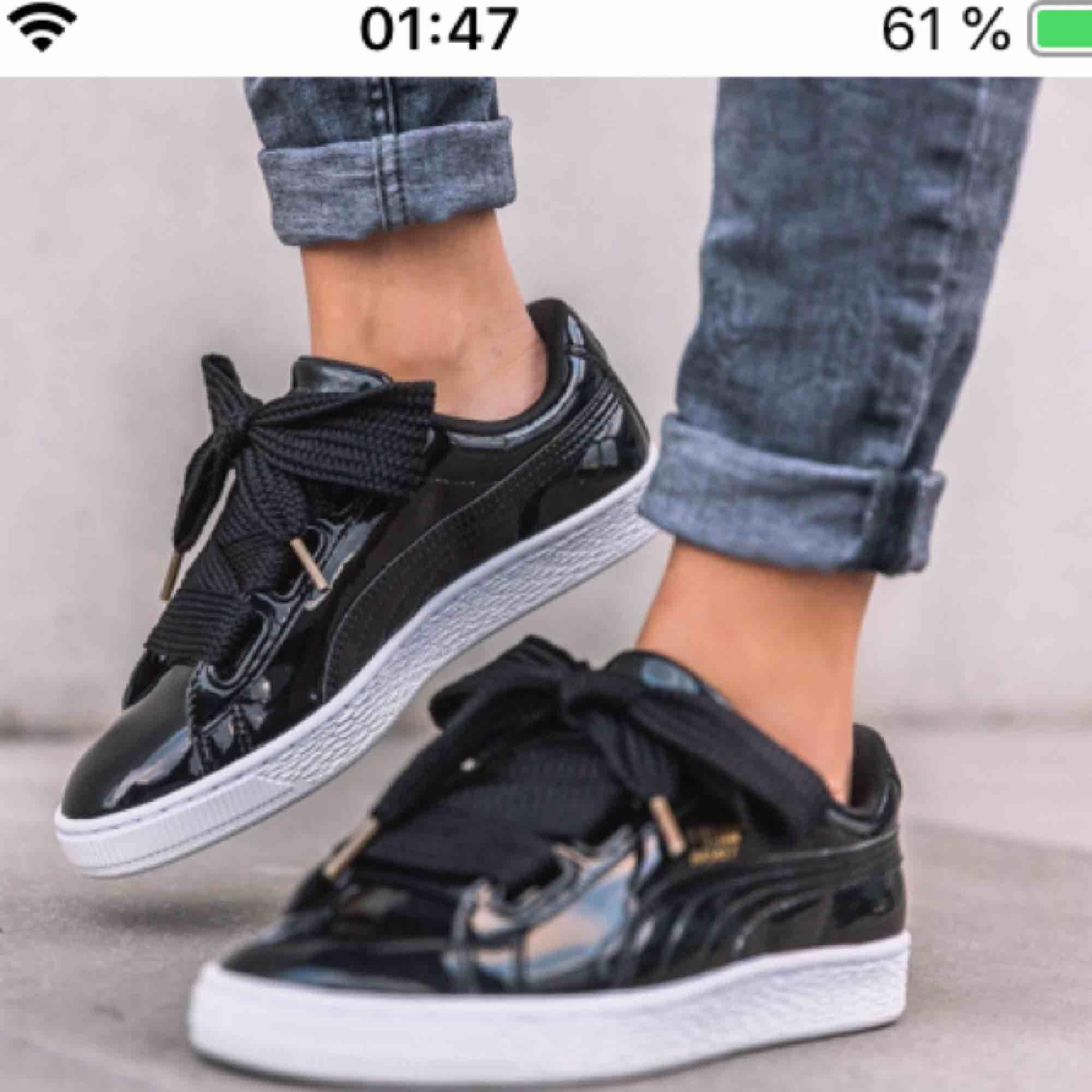 Puma patent heart. Dom oemotståndliga sneakersen som blivit en modern klassiker. Knappt använda, så de är i superbra skick!. Skor.