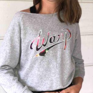 Snygg grå warp tröja, andvänd ett fåtal gånger men i mycket gott skick! Nypris 300 kr.