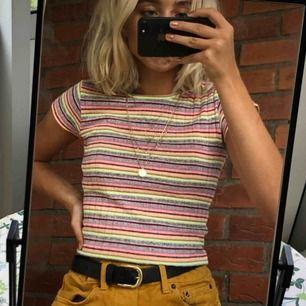 Kort, stickad tröja från Urban Outfitters. Jättemjuk och färgglad. Har inte haft på mig särskilts mycket.