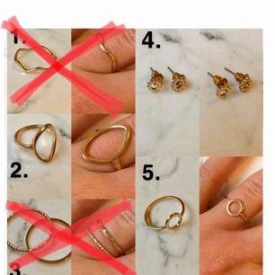 ( NR 3 & 1 ÄR SÅLDA! ) Superfina smycken från H&M! 10 kr styck! Alla smycken är helt oanvända 🙌🏻 köparen står för frakten (9 kr frakt) 🥰