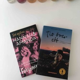Hanna & Amanda bok 10kr, Tio över ett 59 kr säljer båda för 50kr plus frakt. Hanna & Amanda är som ny, Tio över ett är oläst.