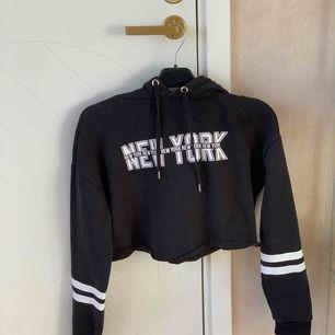 Superfin kroppad hoodie från H&M. Väldigt fin och en del använd men det syns inte. Inga hål eller slitningar.