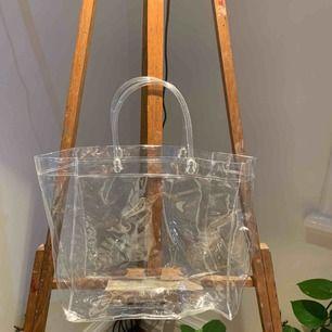 Genomskinlig väska i PVC! Jätteball🤑🤑🥰 priset exkl frakt