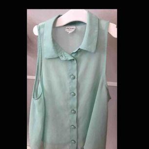 Skitsnyggt turkost linne i polyester tyg🙌🏼 Använd några gånger men i väldigt fint skick👌🏻buda!!
