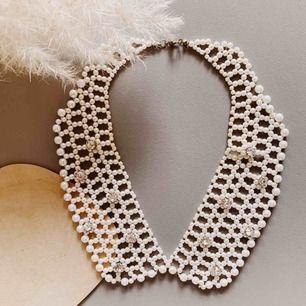 Vintage halsband med pärlor