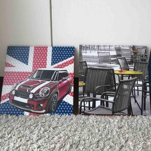 2 tavlor från okänt märke, helt nya då jag aldrig hängt upp dom. Säljer för 30kr styck, båda för 50. 💕