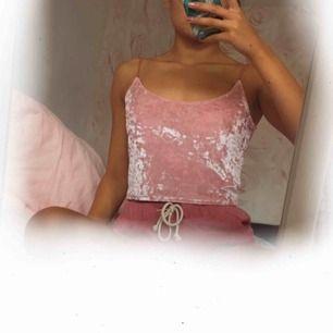 ♡ Rosa sammetslinne från H&M ♡ 59:- inkl. frakt