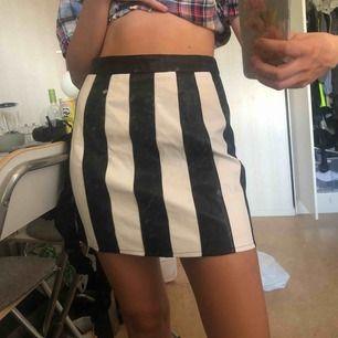 En helt ny och oanvänd randig kjol från nastygal. Säljer då den är lite för stor. Kan mötas upp i Stockholm annars betalar köparen för frakt!