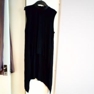 En aldrig använd tunika från Hm. Läderimitaion vid halskragen dragkedja baktill. Längre på baksidan och kortare framtill. Frakt tillkommer