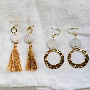 Handgjorda örhängen, frakt 9 kr 🌻 Priset gäller ett par ✨