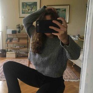 stickad tröja från zara