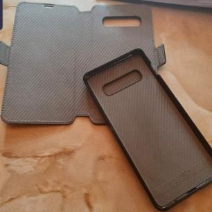 Säljer mitt plånboksfodral tillhörande Samsung S10+ då jag har en ny mobil Det finns utrymme för kort på baksidan och du kan även ta loss baksidan av skalet från plånboken då den sitter fast med hjälp av magnet  Skalet är endast använt i 3dygn Frakt tillkommer om det skall postas