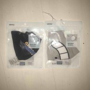 Mouth masks från miniso, 10 kr st och 10 kr frakt (dvs 30 för båda inkl frakt) skriv för fler bilder! Helt oanvända.