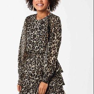 Gina Tricot leopardklänning, kommer aldrig till användning tyvärr