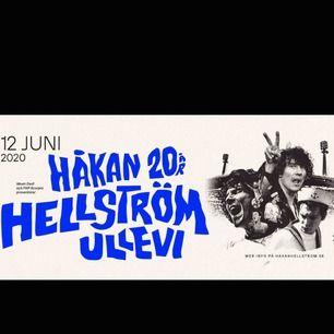 SÄLJER 2 st sittplatsbiljetter till Håkan Hellströms konsertt på Ullevi 13/6 2020. Säljes pga kirrat ståplats. Inköpspris. Skriv om ni vill veta platser!