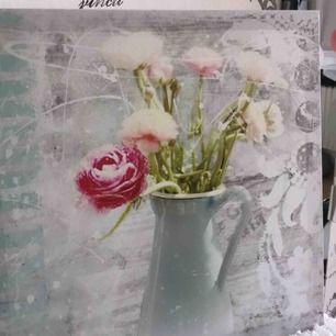 Superfin oanvänd tavla med blommor!  Finns att hämta i Torslanda Annars tillkommer frakt