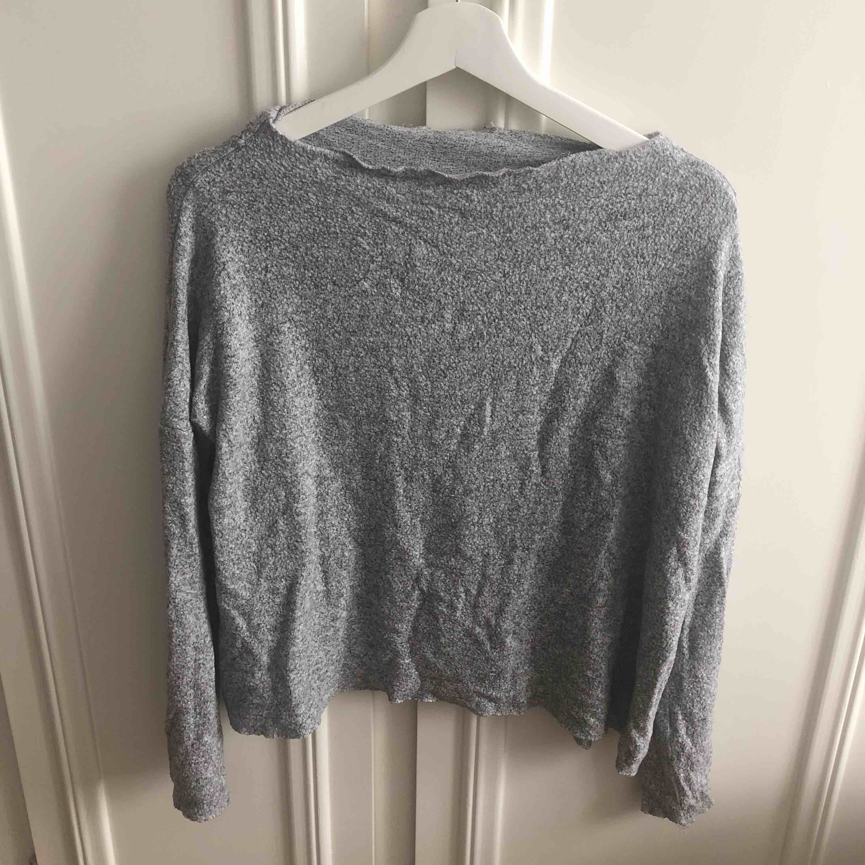 grå Stickad tröja, . Tröjor & Koftor.