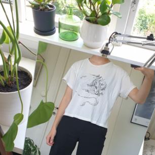 Nice t-shirt med en drake på 🐉 Fint skick, som ny! Frakten är inräknat i priset :)