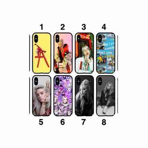 Billie Eilish mobilskal, finns till alla iPhones!  Beställningsvara, ca 2-6 veckor Skicka den siffran som finns vid skalet som du vill köpa så fixar vi det!  Kostar 150kr/st❗️❗️