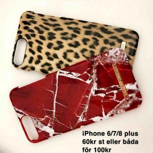 Skal från Ideal of Sweden, 60kr/st eller båda för 100kr, funkar för iPhone 6/7/8 plus , BÅDA SKALEN ÄR SÅLDA!!