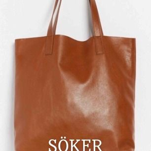 Söker denna bruna läder väska från Lindex!