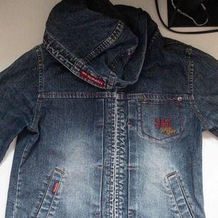Jaens jacka med hoodie