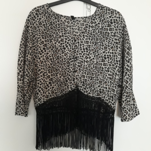 H&M divided tassel Leopard shirt