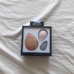 Makeup sponges frpn Lussoni, tre oanvända latexfria bautyblenders för endast 69kr inkl frakt