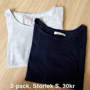 2-pack t-shirt, Storlek S, 30kr