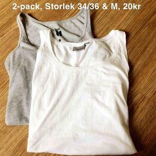 2-pack linnen, Storlek 34-36 & M, 20kr