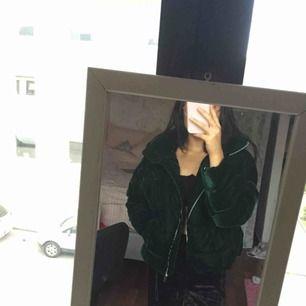 ♡ Grön vinterjacka från Zara ♡ reglerbar i midjan