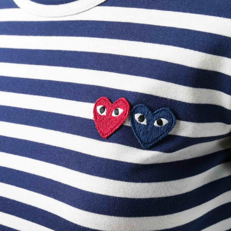 Comme des garcons långärmad tröja. Mörkblå och vid randig. Tröjor & Koftor.