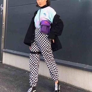 checkered pants som e som ny