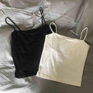 Svart och vit linne från Gina Tricot. Båda för 80 kr inkl 18 frakt. Betalning med swish