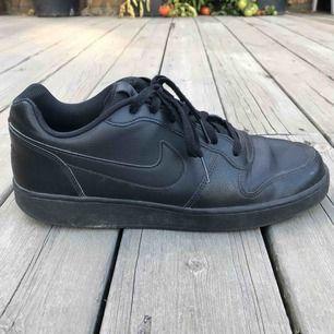 Svarta Nike skor köpta på stadium för 600 kr. Använda en vinter så i bra begagnat skick. Möts upp runt Åkersberga, Täby eller Stockholm C. Köpare står för frakt.